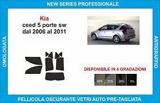 pellicole oscuranti vetri kia ceed sw dal 2006-2011 kit completo
