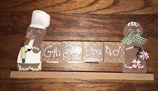 NEW Gingerbread Peppermint Wood Shelf Decoration Decor Blocks Block