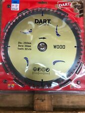 DART circular saw blade SSK2503060 250mm 30mm 60 teeth wood cutting fine TCT