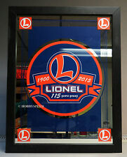 LIONEL 115th ANNIVERSARY FRAMED ART MIRROR trains home decor UNCATALOGED 9-42033