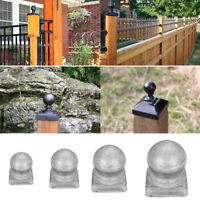 """Silver Metal Round Ball Fence Finial Post Cap Protect for 2"""" Square Posts Garden"""