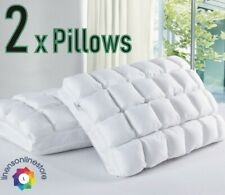 2 pc 24 Pocket Pleated MicroFibre Bamboo Pillows Soft Relax Neck Support
