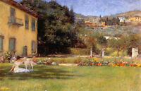 Art Oil painting William Merritt Chase - Good Friends, woman and dog canvas