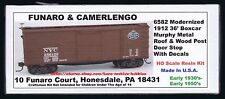 Funaro F&C 6582 NEW YORK CENTRAL 1912 36' NYC Boxcar Murphy Metal Roof Wood Side