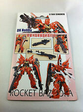 HG Sinanju Bazooka Weapon Gun for Bandai HG Gundam Hobbies