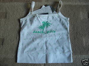 BNWT MEXX Green White Beach Girls Spotty Strappy Top 3-4 Years