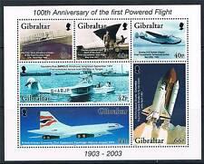 Gibraltar 2003 Cent of Powered Flight MS 1051 MNH