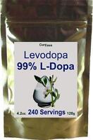 Pure 100% L-Dopa Powder Levodopa Mucuna Pruriens Dopamine 4oz 120g 240 Servings