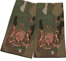 PAIR WO 1 REGIMENTAL SERGEANT MAJOR RANK SLIDES MULTICAM MTP COMPATIBLE PATCH