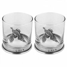 House Of Tweed Glasses Tumbler x2 11oz Pheasant (PHS105)