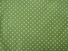 "Green Cotton Polka Fabric Tiny Dot 59"" Wide by the metre Shabby Chic Crafts"