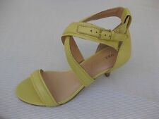 Sole Society Womens Shoes NEW $80 Ranae Yellow Leather Sandal 6 M