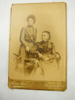 Superb Victorian Mother and Daughter Cabinet Photo Germany circa 1880
