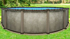 "27 Round 54"" Saltwater LX Above Ground Salt Swimming Pool with 25 Gauge Liner"