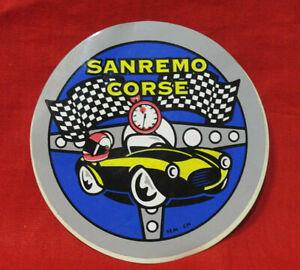 ADESIVO STICKER VINTAGE AUTOCOLLANT SANREMO CORSE SEM - CN