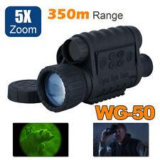 Digital IR Night Vision Monocular Scope 6X50 DVR 350m Range Camera Recording DVR