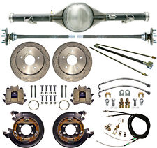 CURRIE 63-70 CHEVY C10 5-LUG TRUCK REAR END & DRILLED DISC BRAKES,LINES,CABLES