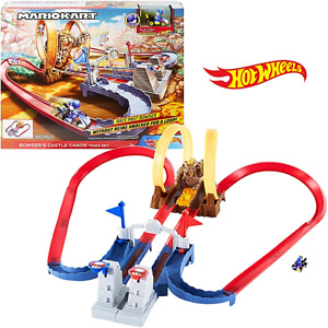 Hot Wheels Mario Kart Bowsers Castle Chaos Track & Car Playset New Kids Toy 5+