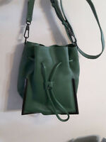 3.1 PHILLIP LIM Grained Calfskin Leather Small Bucket Bag Handbag Tote Purse