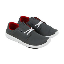 Etnies Pioneer Mens Gray Canvas Athletic Lace Up Skate Shoes