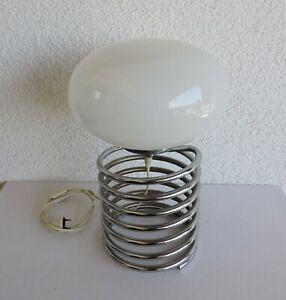 alte Honsel Spirallampe Tischlampe Diskusschirm Entwurf Ingo Maurer