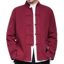 Мужские кунг фу пальто китайский традиционный костюм Тан Тай Чи форма куртка одежда B