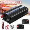 6000W Car Power Modified Sine Wave Inverter DC 12V to AC 220V USB Converter