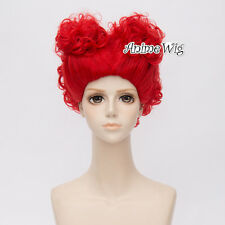 For The Queen Of Hearts Women Red Curly Short Hair Cosplay Wig