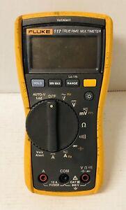 Fluke 117 Digital Handheld CAT III 600V Max True RMS Multimeter NO LEADS Tested