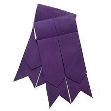 New Scottish Kilt Flashes,Highland Flashes Purple color/Kilt Hose Sock Flashes