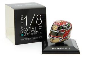 Spark 1/8 Scale Lewis Hamilton Mercedes Petronas 2019 Helmet Abu Dhabi - Instock