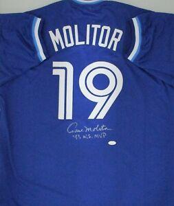 Blue Jays PAUL MOLITOR Signed Custom Replica Navy Jersey AUTO w/ 93 WS MVP - JSA