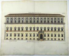 1679 Joh. SANDRART; Falda original DOUBLE FOLIO engraving PAPAL PALACE ROME