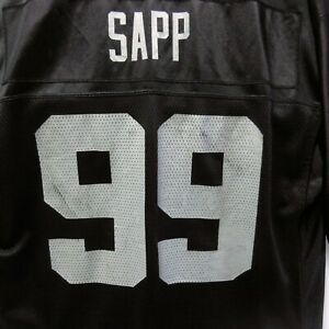 Warren Sapp #99 Oakland Raiders NFL Jersey Size L  90's Men's On Field Reebok