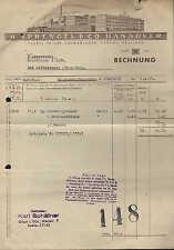 HANNOVER, Rechnung 1938, Schokoladen-Fabrik B. Sprengel & Co.