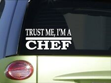 Trust me Chef *H492* 8 inch Sticker decal baking cook recipe book dinner plate