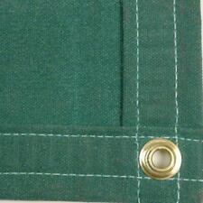 Sigman 8' x 20' Heavy Duty Cotton Canvas Tarp 18 OZ - Green - Made in USA - New