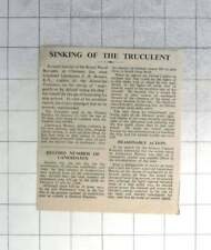 1950 Sinking Of The Truculent, Lt Bowers Acquitted Of Negligence