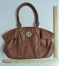 Womens Chateau Brown Beige Purse Ladies TOTE Hand Bag