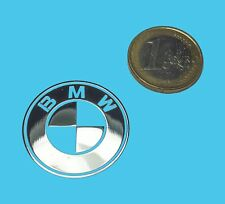 BMW METALLIC CHROME EFFECT STICKER LOGO AUFKLEBER 30mm
