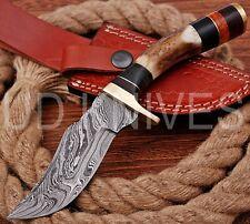 8 INCH UD CUSTOM DAMASCUS STEEL HUNTER KNIFE Stag/ANTLER  HANDLE B6-11555