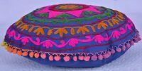 Cushion Cover Cotton Suzani Embroidered Home Decor Boho Indian Handmade Pillow