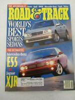 ROAD & TRACK MAGAZINE FEBRUARY 1999 MERCEDES BENZ E55 VS JAGUAR XJR AUDI A4 1.8T