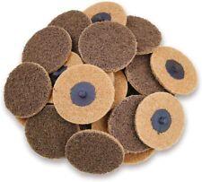 25pcs 3 In Coarse Roloc Sanding Disc Surface Prep Die Grinder Roll Lock Discs