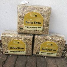3x Barley Straw Bedding Rabbit Guinea Pig Rat Hamster Generates Heat Hand Picked