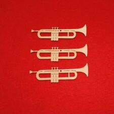 Trompete aus Holz, 10 cm 3er Set Musikinstrument Geschenk Geldgeschenk Musiker
