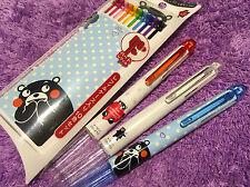 3x Kumamoto HI-TEC-C Coleto Pens + 10 Refills SPECIAL EDITION PILOT Kumamon Bear