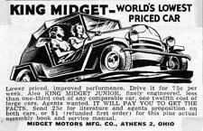 Print.  1954-5 King Midget - WORLD'S LOWEST PRICED CAR - auto ad
