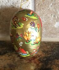 Antique Lithographed Easter Egg Western Germany Candy Container Ornament