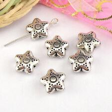 6Pcs Tibetan Silver STAR Spacer Beads 10.5mm A416